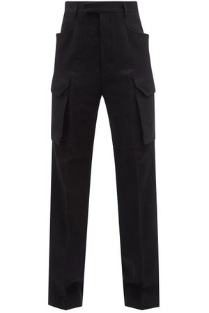 Rick Owens Brushed Cotton-blend Cargo Trousers - Mens
