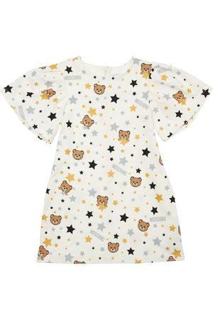 MOSCHINO All Over Print Cotton Sweat Dress