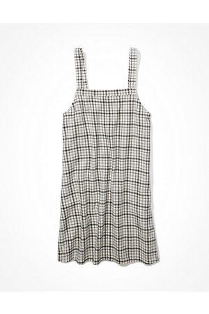 AE Plaid Overall Mini Dress Women's XXS