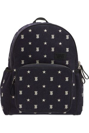 Burberry All Over Logo Cotton Backpack