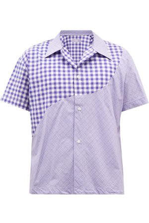 ERL Gingham And Check Short-sleeved Cotton Shirt - Mens