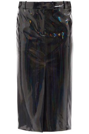 The Attico Women Pencil Skirts - High-rise Vinyl Pencil Skirt - Womens