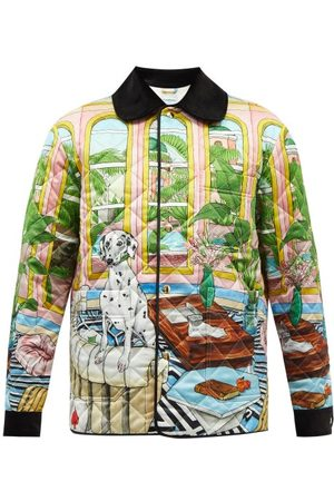 Casablanca Men Jackets - Dream House Printed Quilted-jersey Jacket - Mens - Multi
