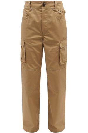 Marine Serre Men Cargo Pants - Survival Regenerated-drill Cargo Trousers - Mens