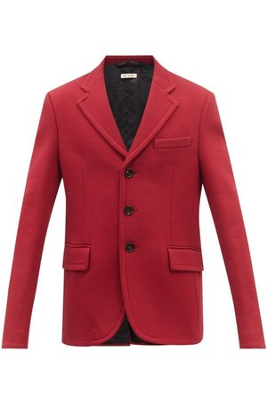 Marni Single-breasted Cotton-jersey Suit Jacket - Mens