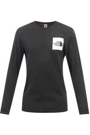 The North Face Logo-print Cotton-jersey Long-sleeved T-shirt - Mens