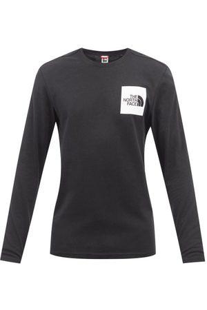 The North Face Men Long Sleeve - Logo-print Cotton-jersey Long-sleeved T-shirt - Mens
