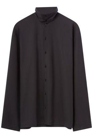 LEMAIRE High-collar Poplin Shirt - Mens
