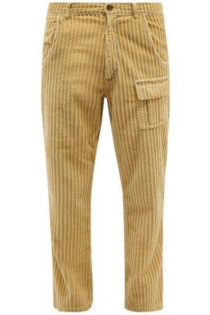 ERL Men Wide Leg Pants - Wide-leg Cotton-corduroy Trousers - Mens