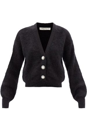 Alessandra Rich Women Cardigans - Cropped Mohair-blend Cardigan - Womens