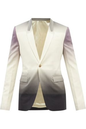 Rick Owens Ombré Virgin Wool-blend Canvas Blazer - Mens