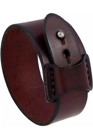 Men's Brown Leather Wide Bracelet N'Damus London