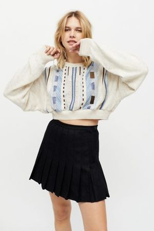 Urban Renewal Recycled Solid Pleated Mini Skirt