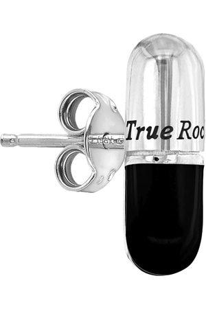 Men's Black Sterling Silver & Pill Stud Earring True Rocks