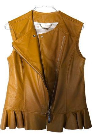 Mangano Leather short vest