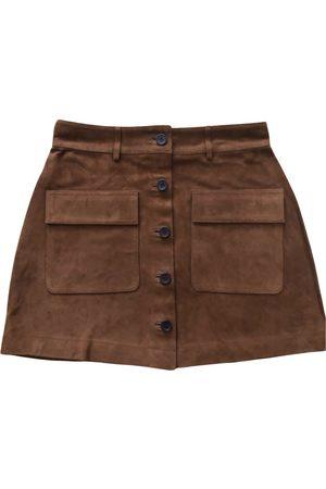Soeur Leather mini skirt