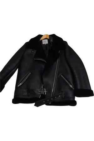 Sara Battaglia Vegan leather short vest