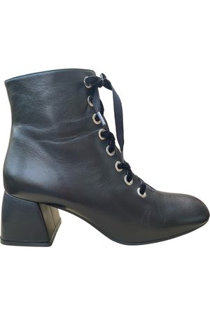 Rebecca Leather lace up boots