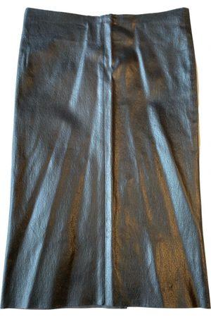 JITROIS Leather mid-length skirt