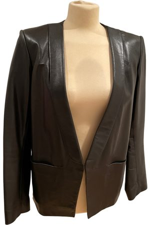 Sandro Leather blazer