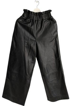 Ganni Leather large pants