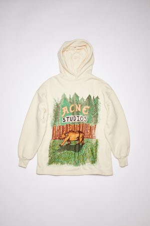 Acne Studios FN-WN-SWEA000172 /ecru Hooded sweatshirt