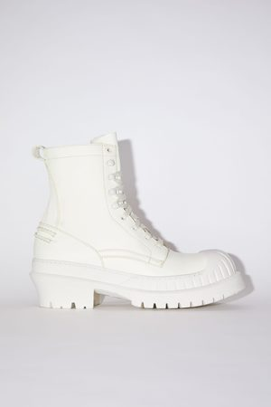 Acne Studios FN-MN-SHOE000156 /white Lug sole ankle boots