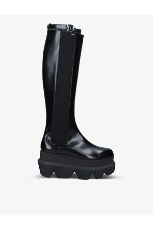 Sacai Platform leather knee-high boots