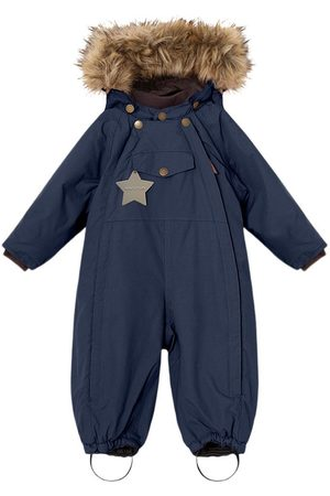 Mini A Ture Kids - Wisti FAKE Fur Suit M Nights - 12m/80cm - Navy - Winter coveralls