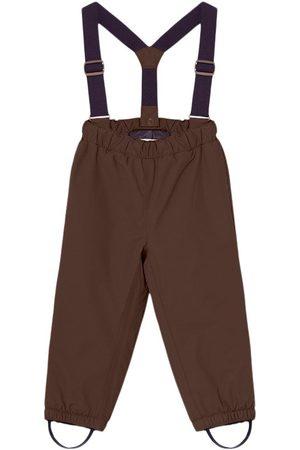 Mini A Ture Kids - Wilas Pants Suspenders K Dark Choco - 2y/92cm - - Ski pants and salopettes