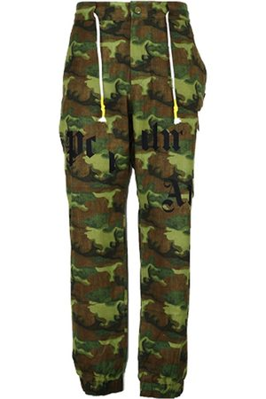 Palm Angels Camouflage-Print Cargo Trousers