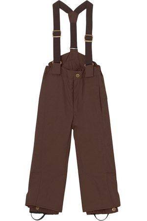 Mini A Ture Kids - Dark Choco Witte Ski Pants - 4y/104cm - - Ski pants and salopettes
