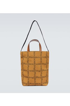 JW Anderson Leather-trimmed canvas tote bag