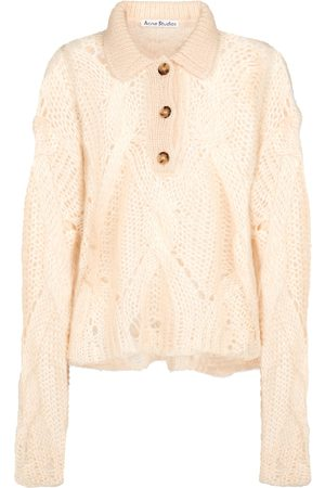 Acne Studios Cable-knit polo sweater
