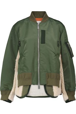 SACAI Shearling-lined bomber jacket