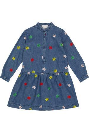 STELLA McCARTNEY Kids Embroidered cotton shirt dress