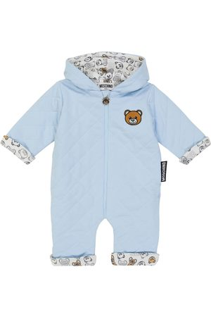 Moschino Kids Baby quilted teddy bear romper