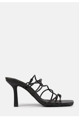 Missguided Loop Strappy Square Toe Heeled Sandals