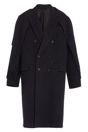 Balenciaga Men Coats - Long coat with bangs