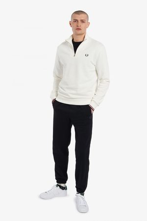 Fred Perry Fred Perry Half Zip Sweatshirt - Snow