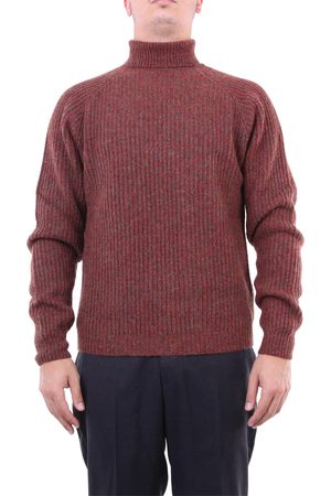 Heritage Knitwear High Neck Men Brown and red