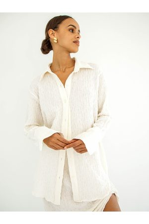 The Line By K Women Shirts - The Logan Shirt in Crema