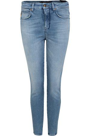 Drykorn Dames Wet jeans Blauw 80600 3700