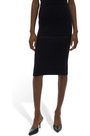 Helmut Lang Women's Utility Wool Pencil Skirt