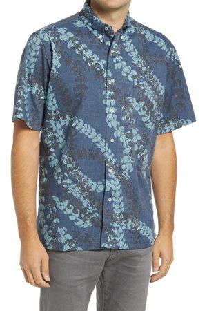 Reyn Spooner Men's Sun Showers Lei Classic Fit Short Sleeve Button-Down Shirt
