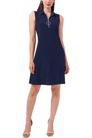 Chaus Women's Sleeveless Quarter Zip Dress