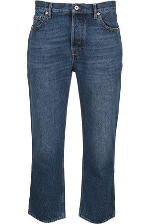 Valentino Men Straight - Logo straight leg jeans