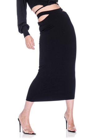 AFRM Women's Hartford High Waist Rib Midi Skirt