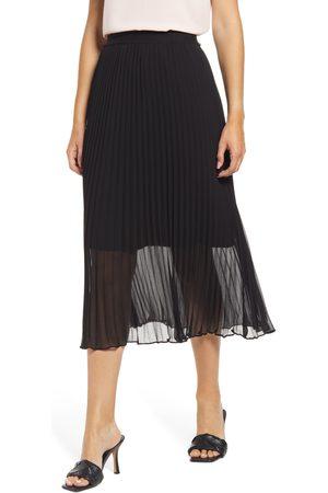 Halogen Petite Women's Halogen Pleated Midi Skirt