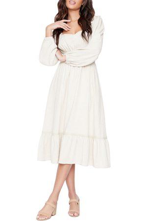 Lost + Wander Women's Easy Breezy Long Sleeve Cotton Blend Midi Dress